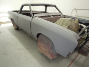 Here's the front view of the restored body