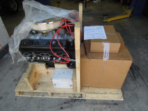 Crate engine as shipped